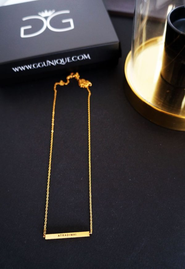 GG UNIQUE PERSONALIZED GOLD PLATED NECKLACE