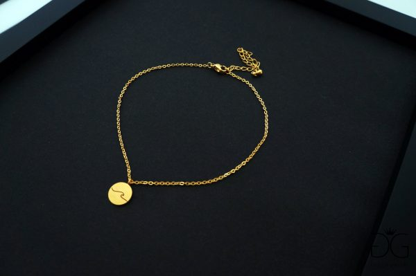 Minimal style gold plated anklet GG UNIQUE