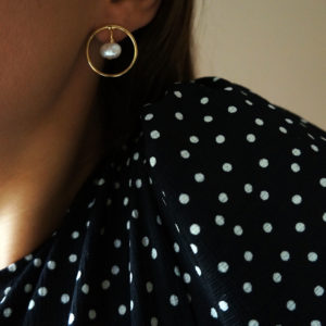 round earrings with pearls GG UNIQUE