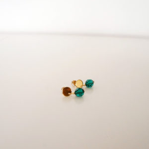 Green emerald swarovski crystal earrings GG UNIQUE